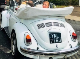 Beetle Cabriolet for wedding hire in Romford